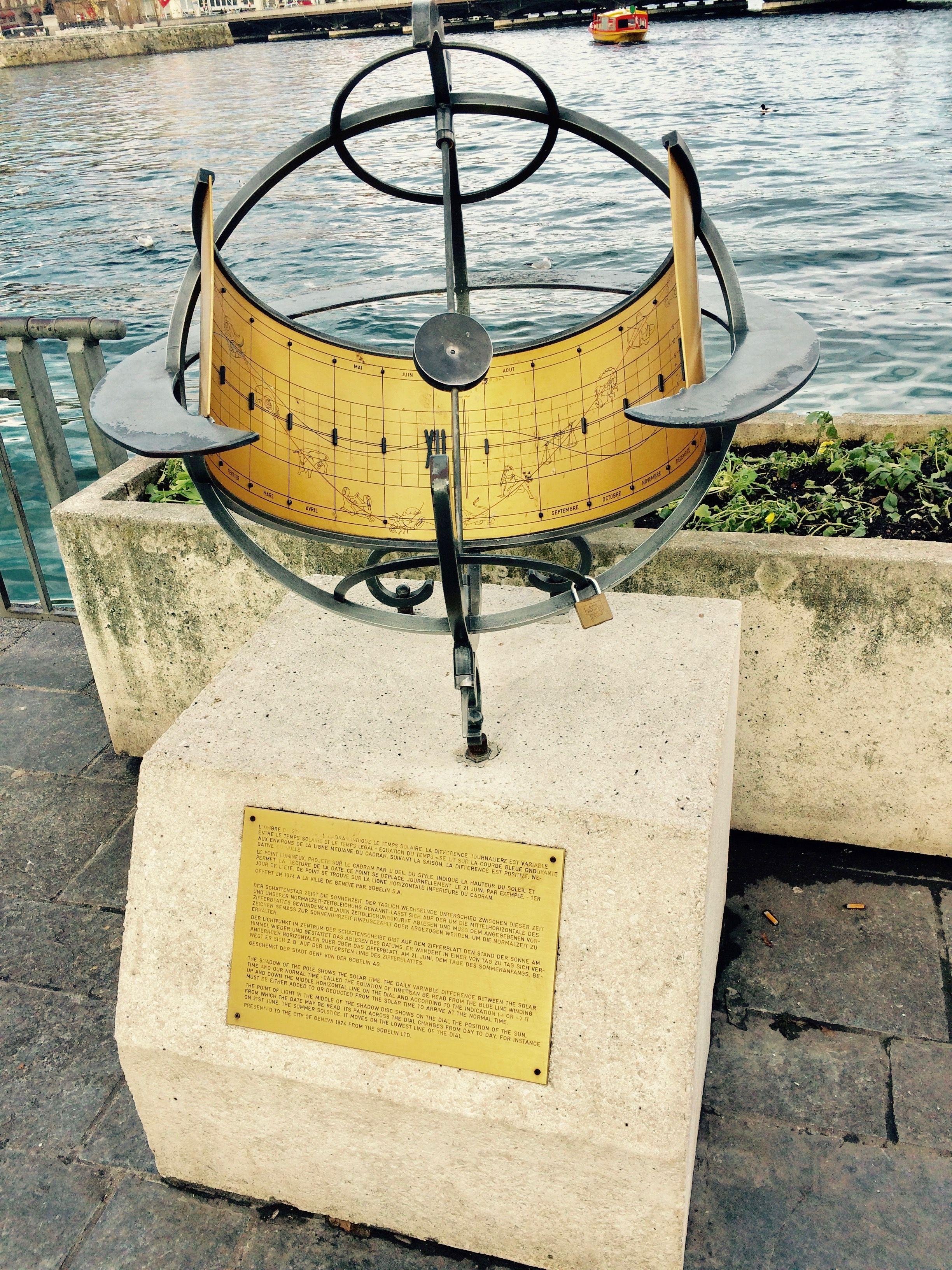 Sundial on Promenade du Lac - Geneva - SIHH 2015