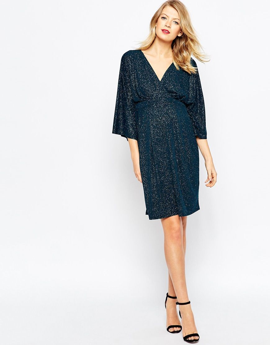 Image 4 of asos maternity bodycon dress in glitter with kimono image 4 of asos maternity bodycon dress in glitter with kimono sleeve ombrellifo Choice Image