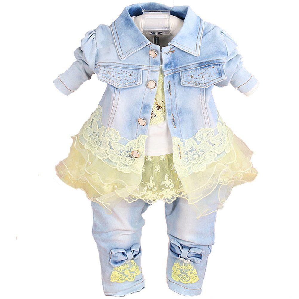 Yellow dress 3-6 months  YYA Baby Girls Denim Clothing Sets  Pieces Set Years Yellow