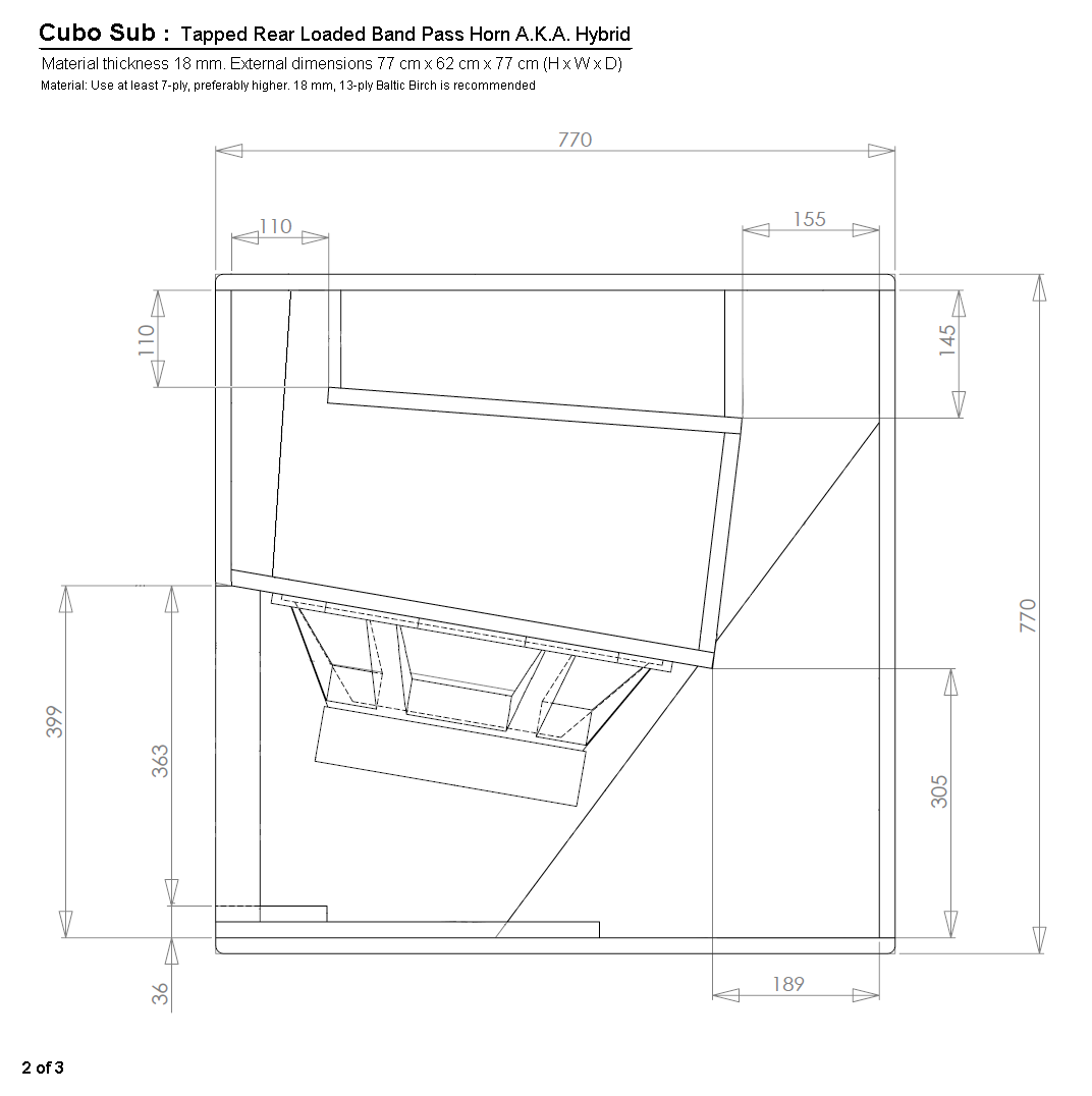 Skema box speaker woofer search results woodworking project ideas - Cubo Sub Construction Plans 2 Of