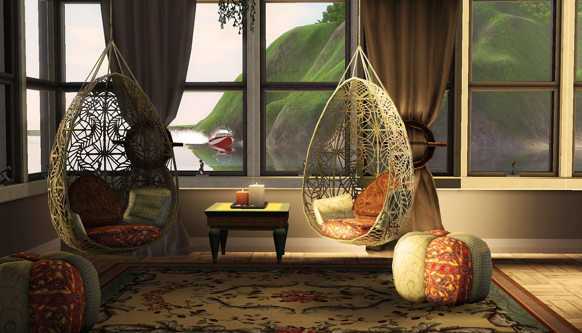 cosy bohemian living room / the sims 3 screenshots | the sims 3