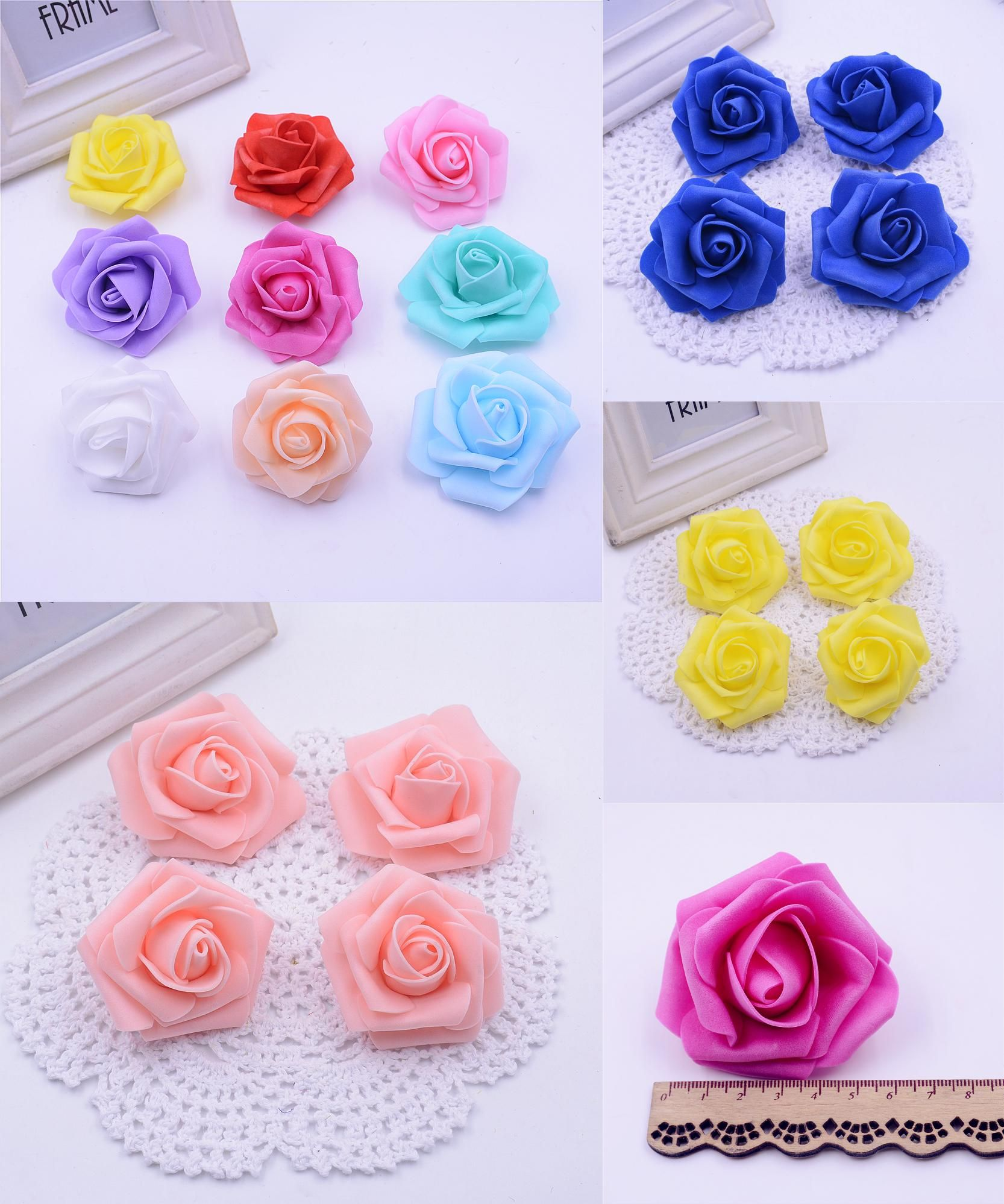 Wedding decorations for car  Visit to Buy pcslot Cheap cm Foam Artificial Rose Flowers Head