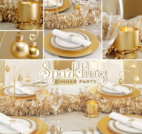 New Year's Eve Decoration sparkling dinner party | New ...