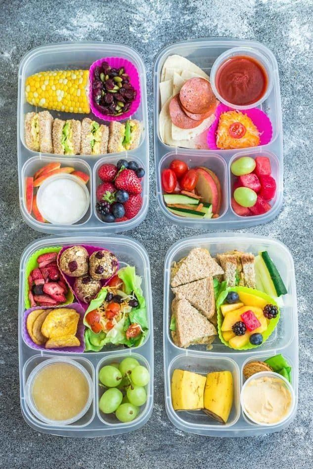 8 Healthy and Delicous Lunches for Back To School. Tons of ideas with options fo... - 8 Healthy an