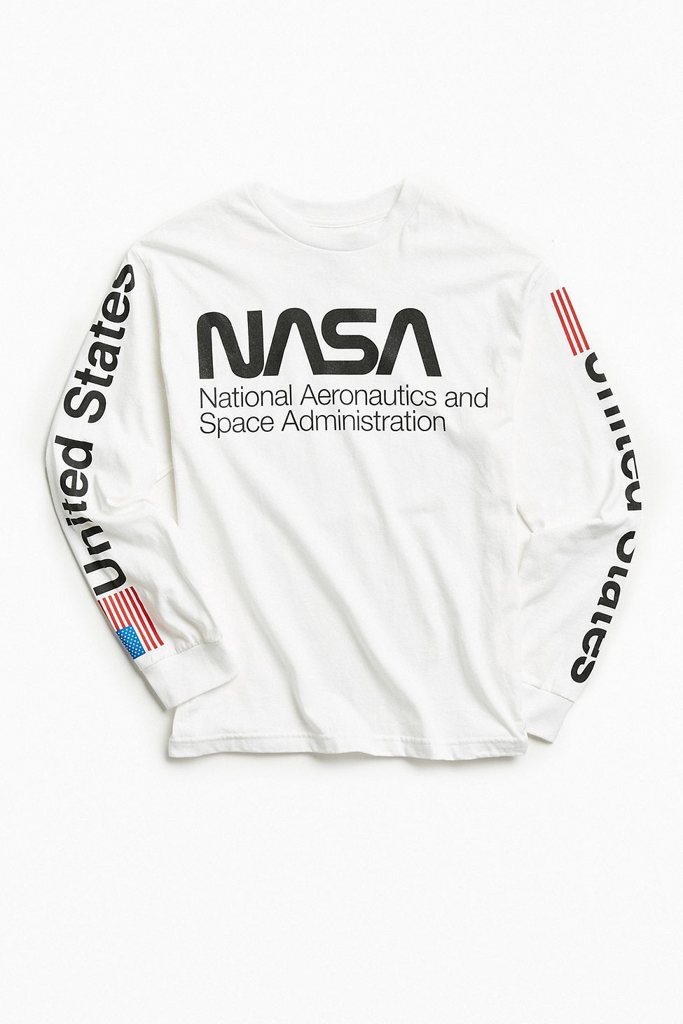 Urban Outfitters Nasa Worm Logo Long Sleeve Tee S Nasa