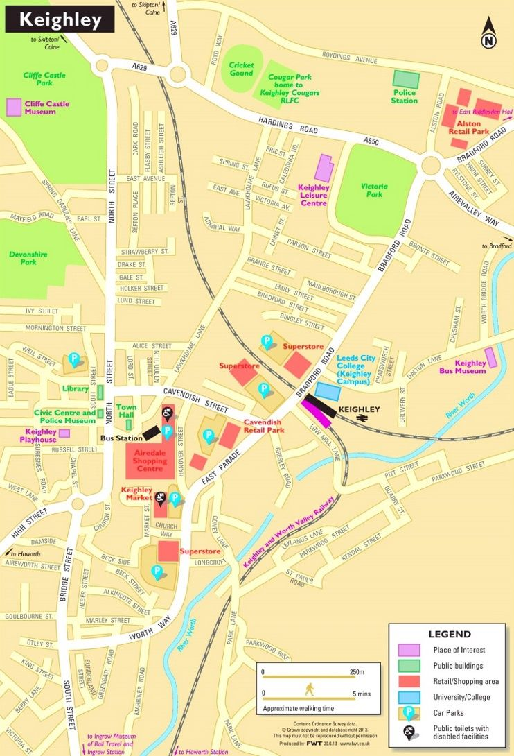 Keighley tourist map Maps Pinterest Tourist map and City