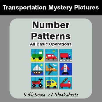 Number Patterns: Misc Operations - Color-By-Number Math ...