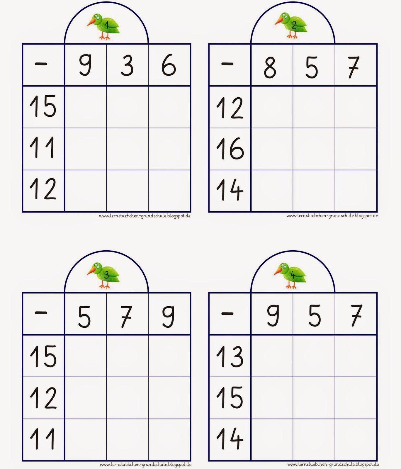 für die Kopfrechenkiste | Teaching | Pinterest | Math, Worksheets ...