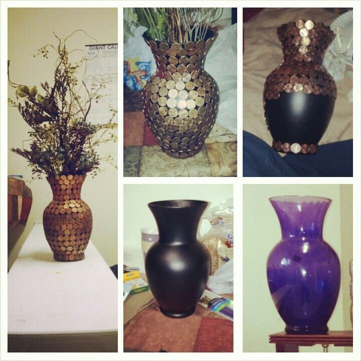 Penny Vase Spray Paint Vase Flat Black Clean Pennies And Hot