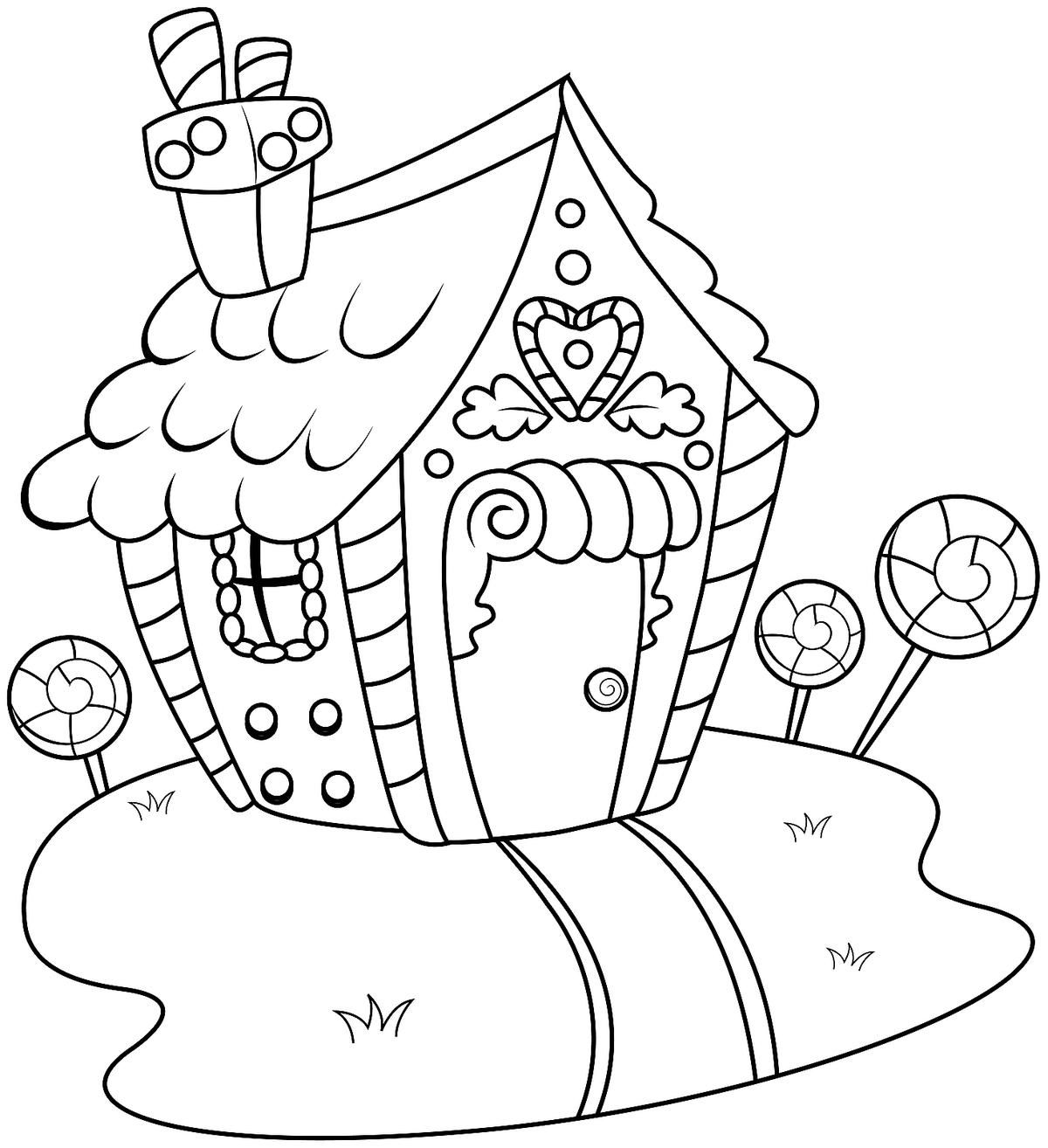 21++ Printable gingerbread house coloring pages information