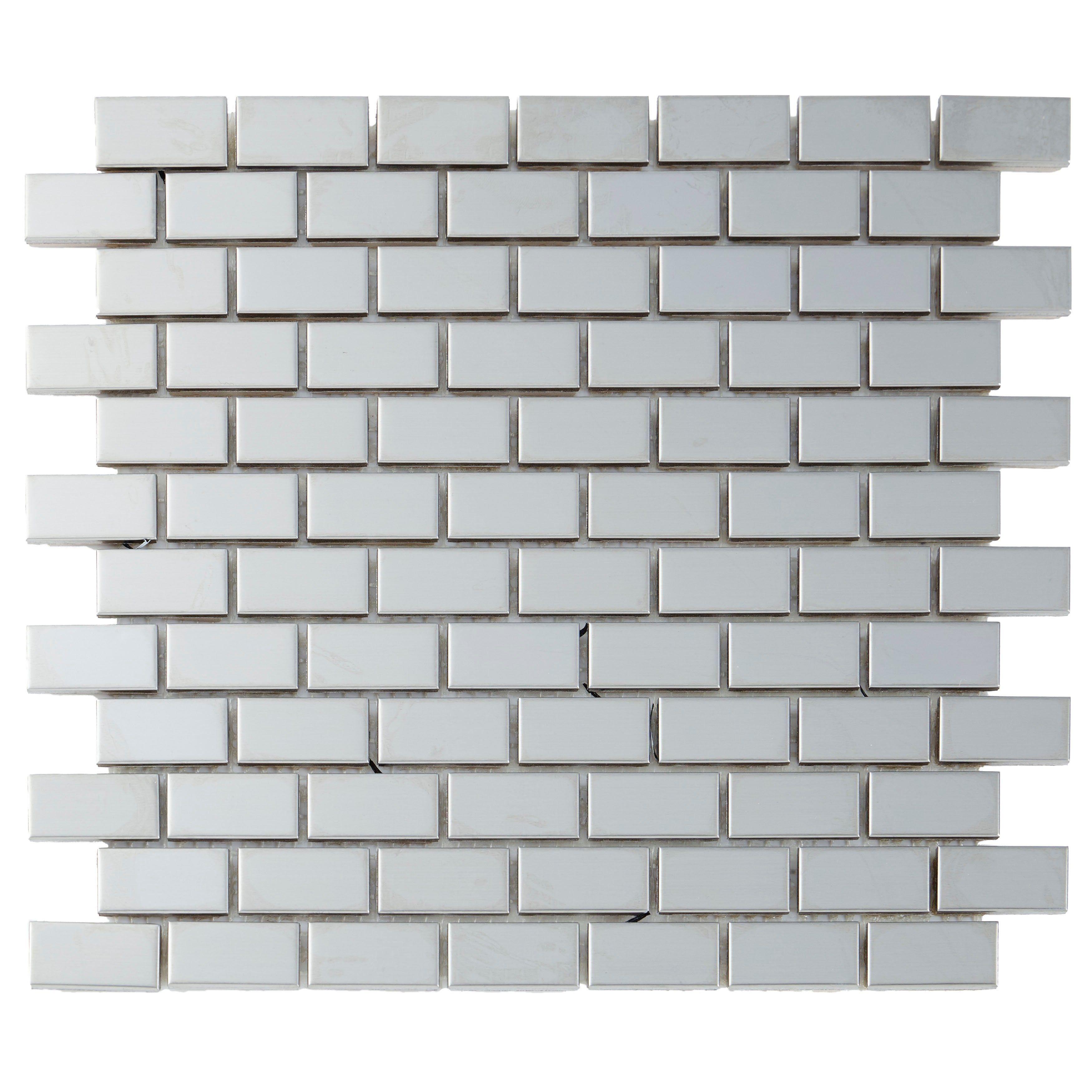 2x2 Ceramic Mosaic Stone Looking 12x24 Mosaic Sheet Masso 24 X 12 Sample Gray Ceramic Mosaic Tile Mosaic Tiles Stone Mosaic Tile