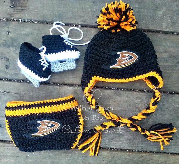 Anaheim Ducks Hockey NHL Baby Newborn Hospital Hat Beanie Cap hat