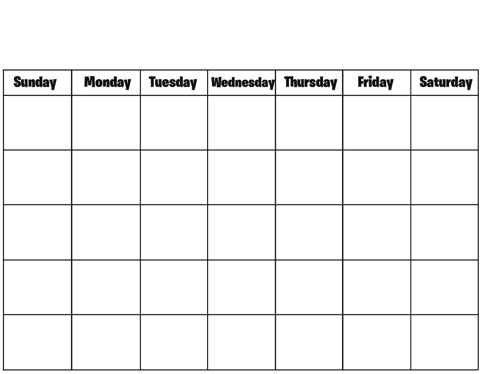 Blank Calendar To Print