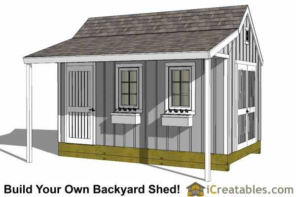 10x16 garden shed plans with porch