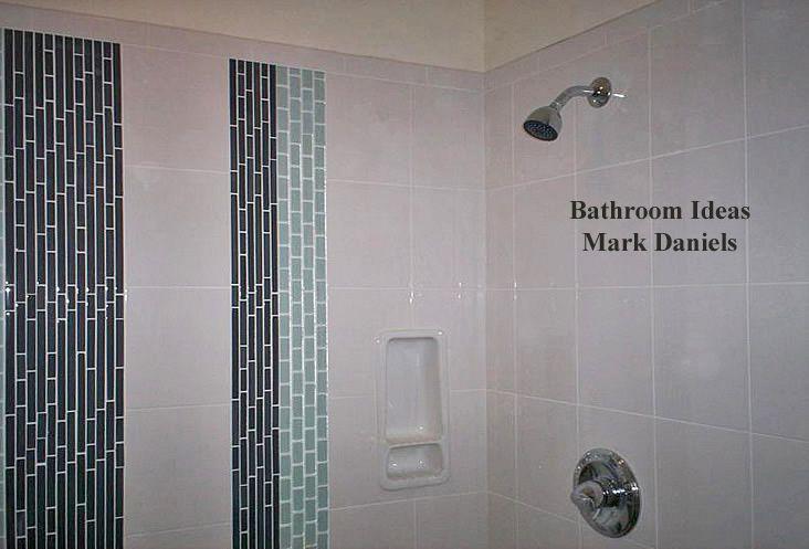 Vertical tile in shower