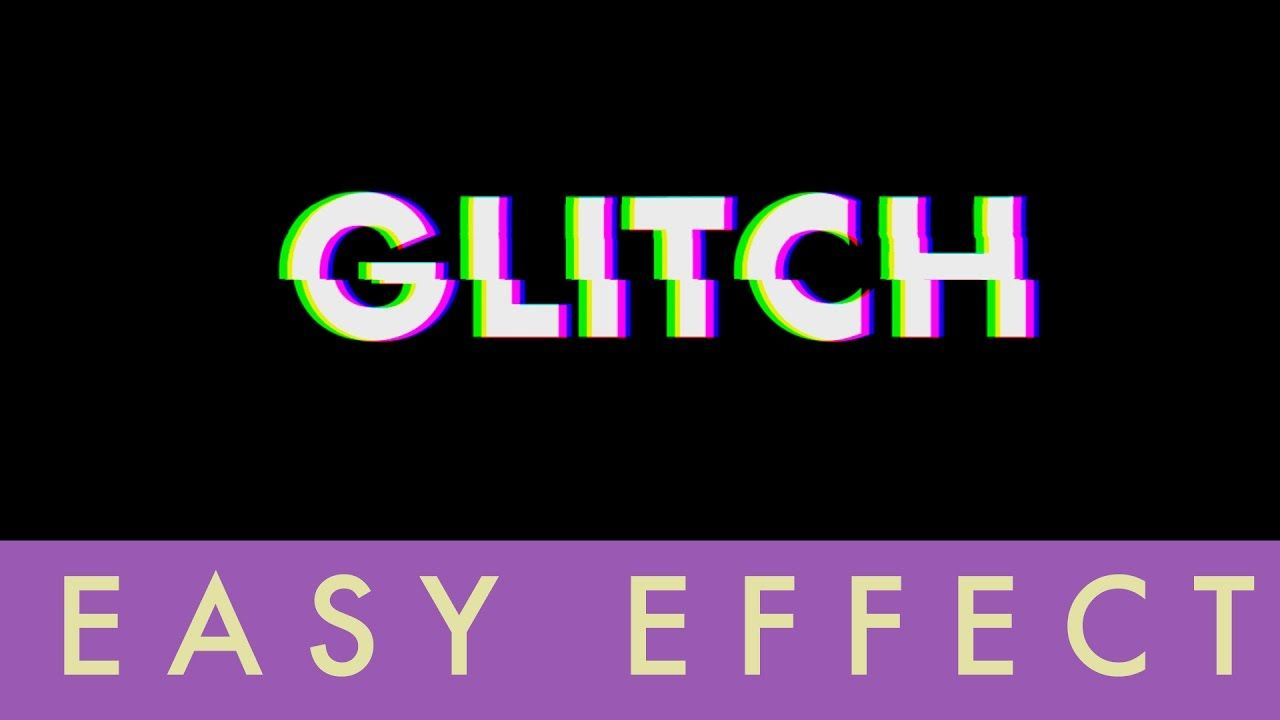 how to make glitch animation