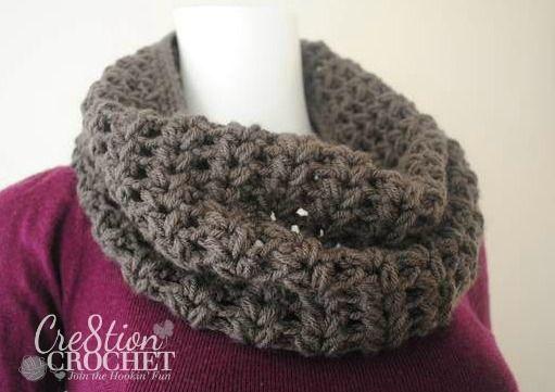 Chloe V Puff Stitch Cowl   Bufanda cuello, Crochet bufanda y Gorros