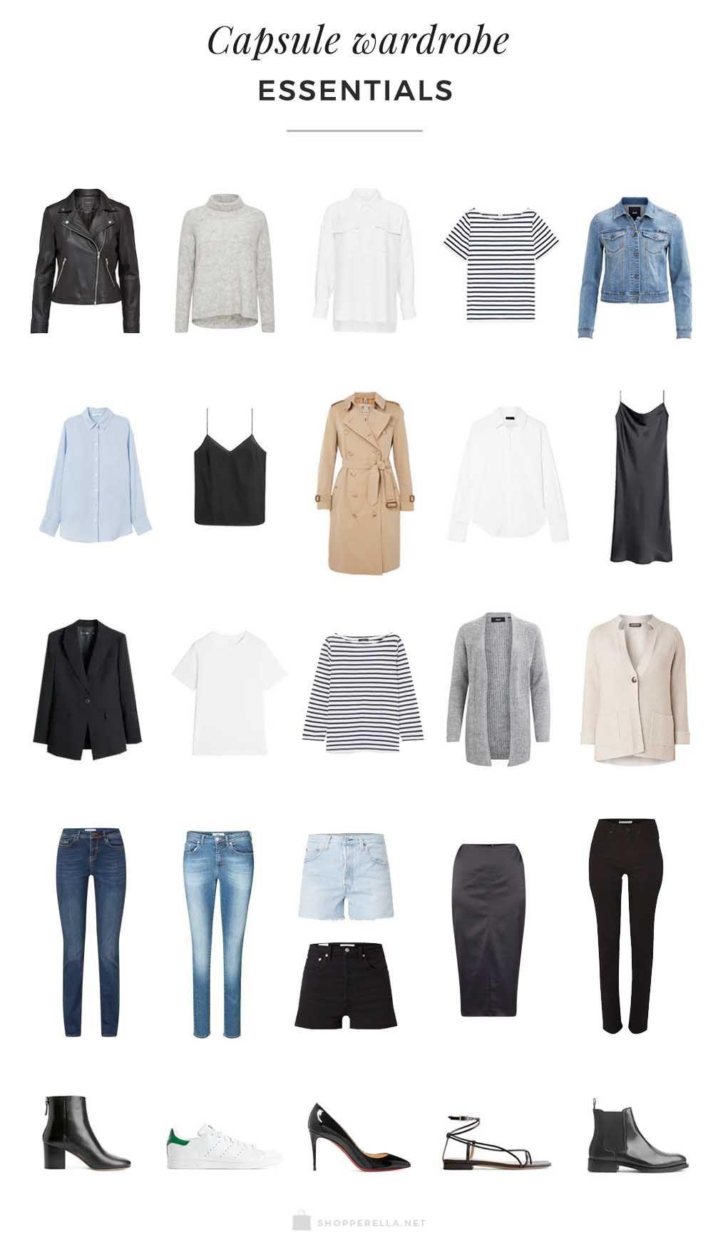 Waaruit Bestaat Een Capsule Garderobe In 2020 Capsule Wardrobe Essentials List Capsule Wardrobe Capsule Wardrobe Essentials