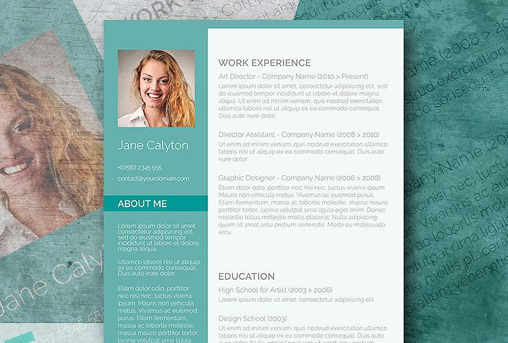 Classy Emerald  A Fancy Word Resume Template Freebie  Fancy