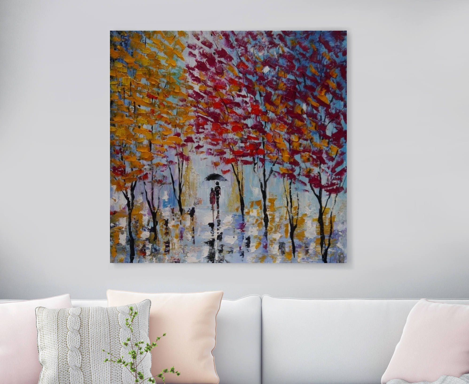 Large Original Oil Painting On Canvas, In Love, Huge Landscapes