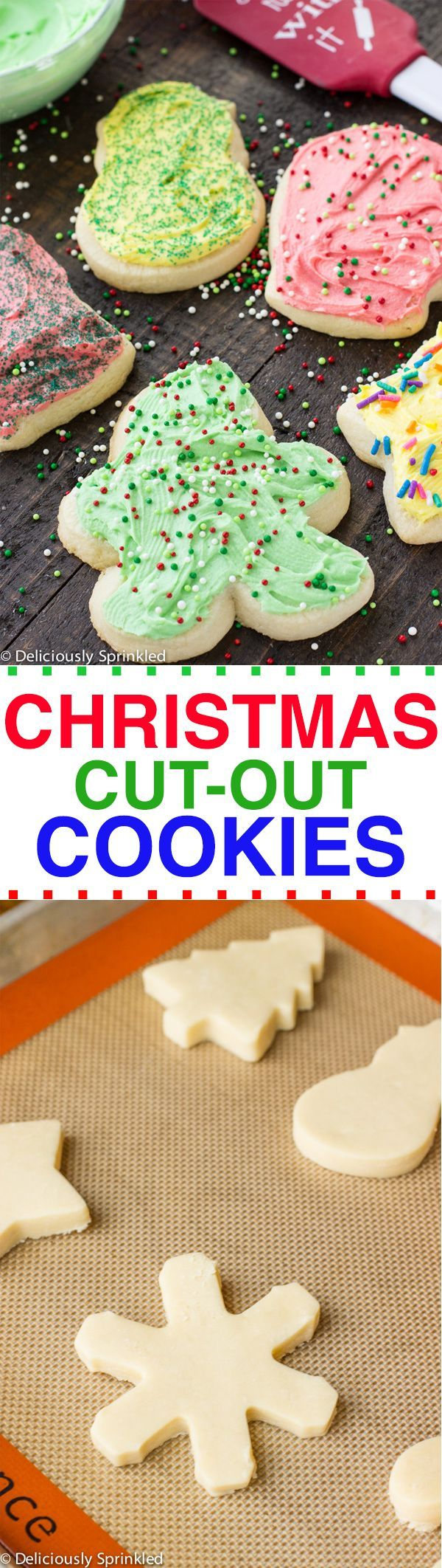 The Best Christmas Cut-Out Cookies EVER! | Cookies | Pinterest ...