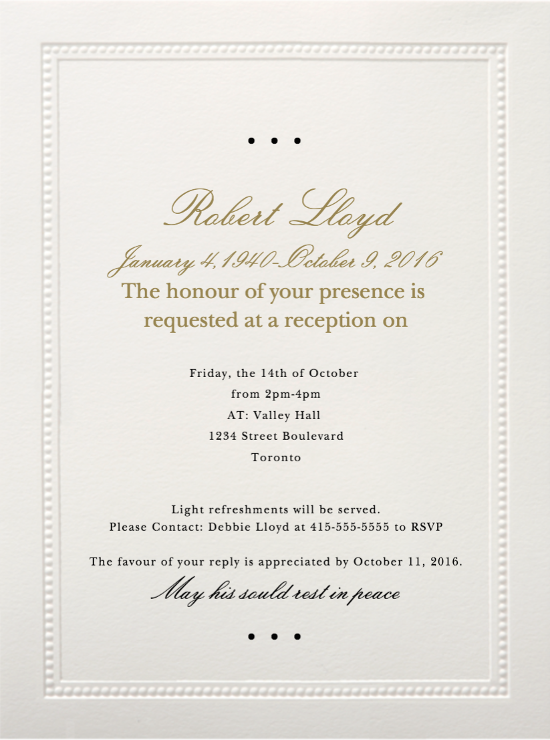 39 best funeral reception invitations reception invitations and sample funeral reception invitation wording on a paperless post design click through for copy and paste able wording loveliveson stopboris Images