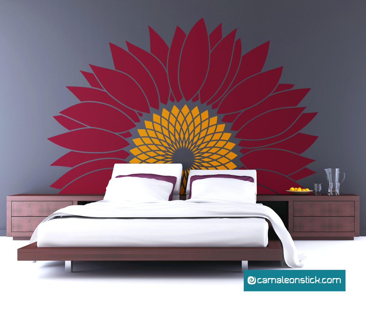 Ricevilo entro giovedì 12 agosto. Adesivo Murale Girasole Perfetto Per La Testata Del Letto Adesivi Murali Testata Del Letto Adesivi