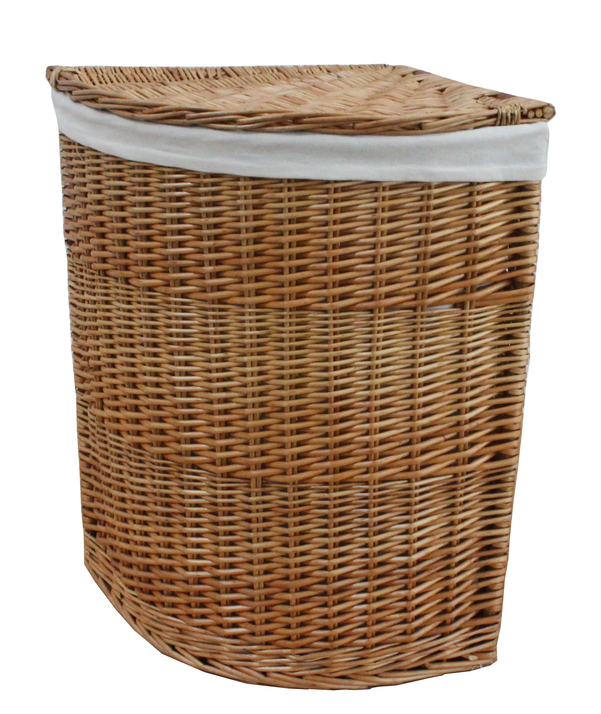 Natural Wicker Corner Laundry Basket Corner Laundry Basket Wicker Wicker Laundry Basket