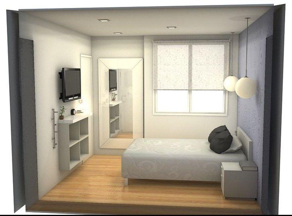 Dise o dormitorio peque o dise o de interiores en 2019 for Diseno de habitacion principal pequena
