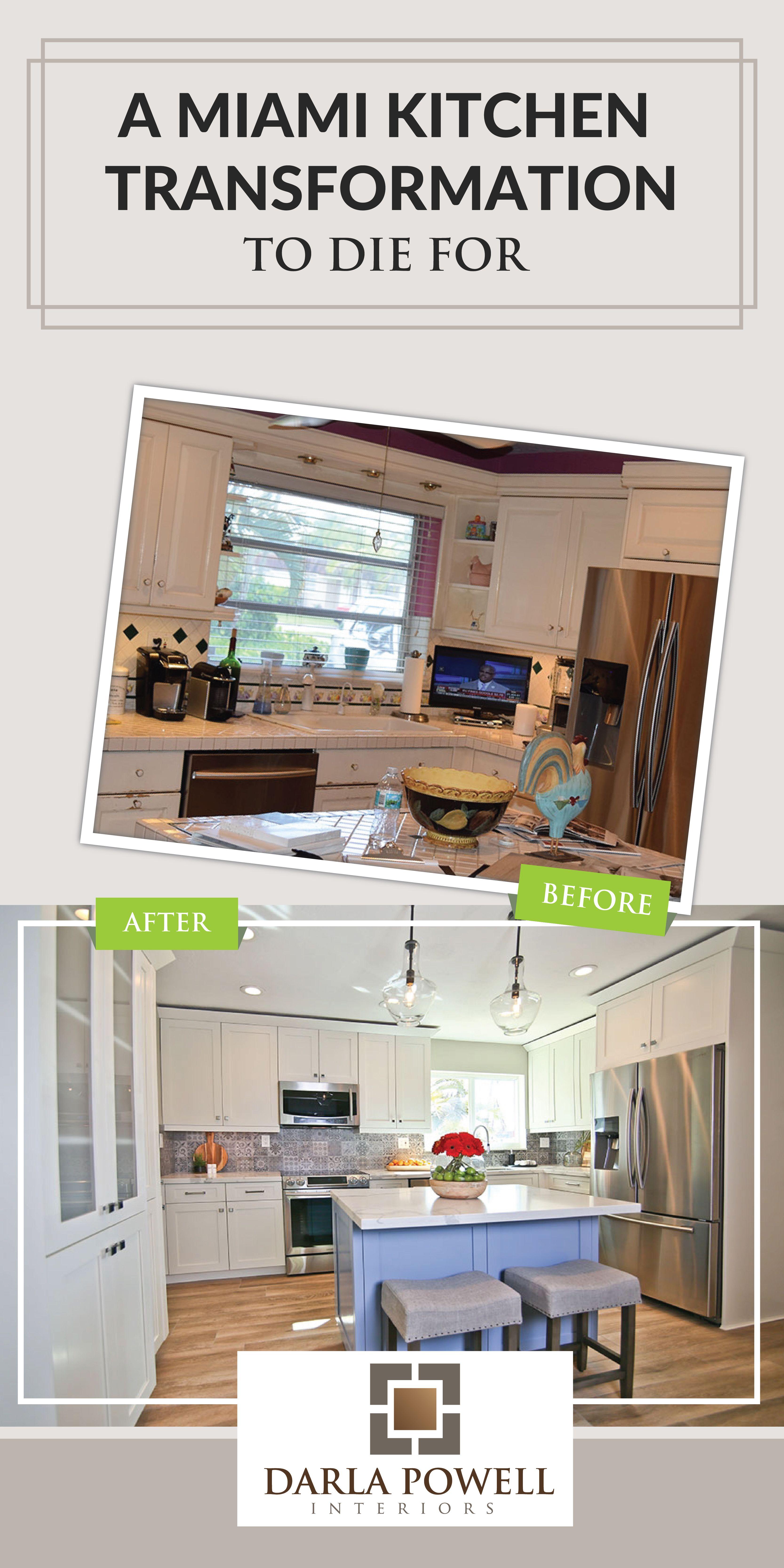 A Miami Kitchen Transformation To Die For Kitchen Backsplash Designs Diy Kitchen Remodel Kitchen Transformation