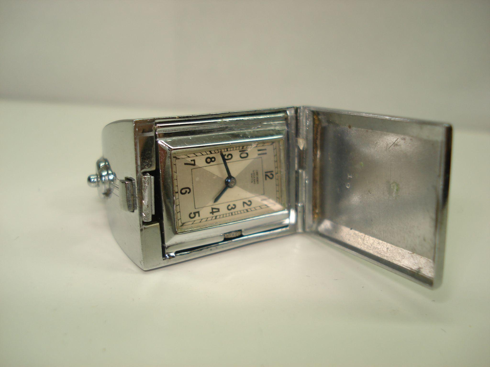 Rare Vintage Bucherer Flip Top Purse Watch Black Enamel Travel Watch Vintage Watches Black Enamel Antique Watches