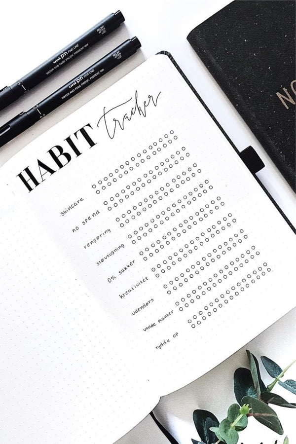 Looking for a quick and easy habit tracker setup Check out the rest of the list for more cute ideas to try in your own bullet journal