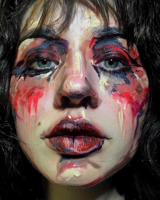 Vancouver Based Makeup Artist Uses her Face as a Canvas