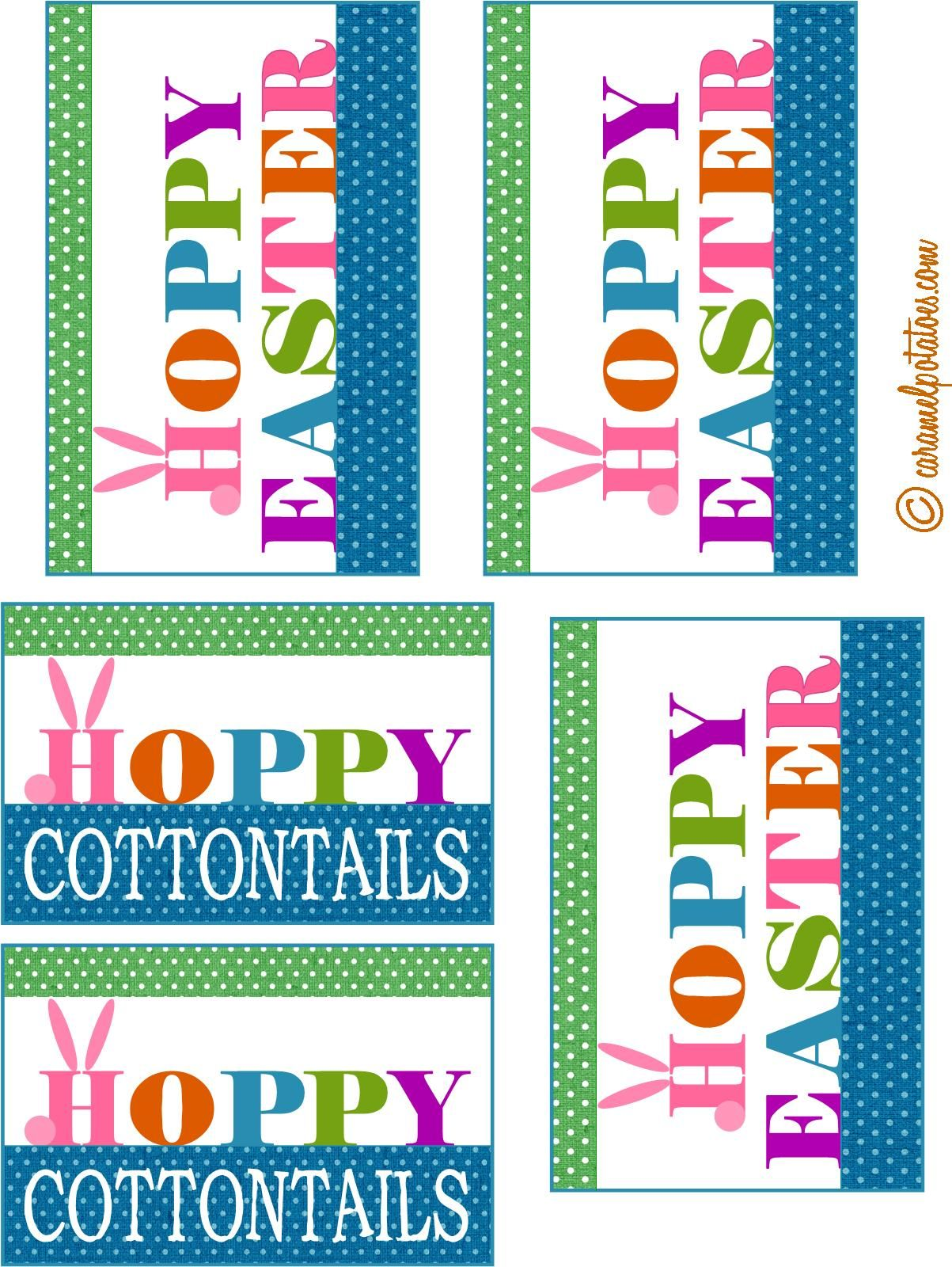 Caramel potatoes printable hoppy cottontails petter cotton tail pin it here comes peter cottontail well not exactly but here is a cute little addition for your easter basket add this bag topper to a couple of negle Images