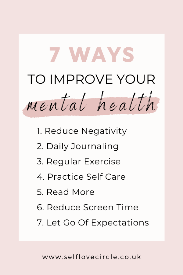 Ways to help your mental health