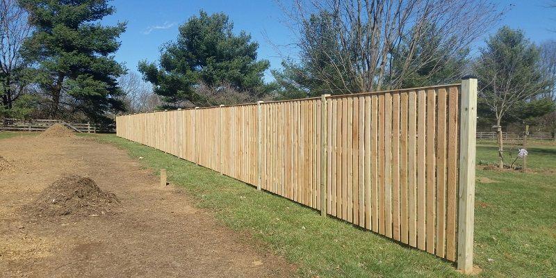 Western Red Cedar 6 Foot High Semi Private Fence Alternating