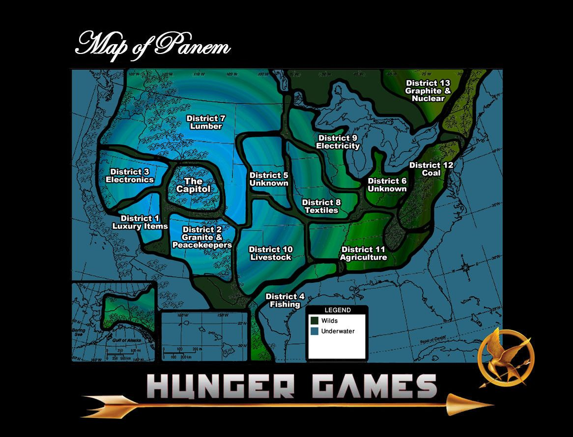My Well Thought Out Map of Panem | Hunger games map, Hunger ...