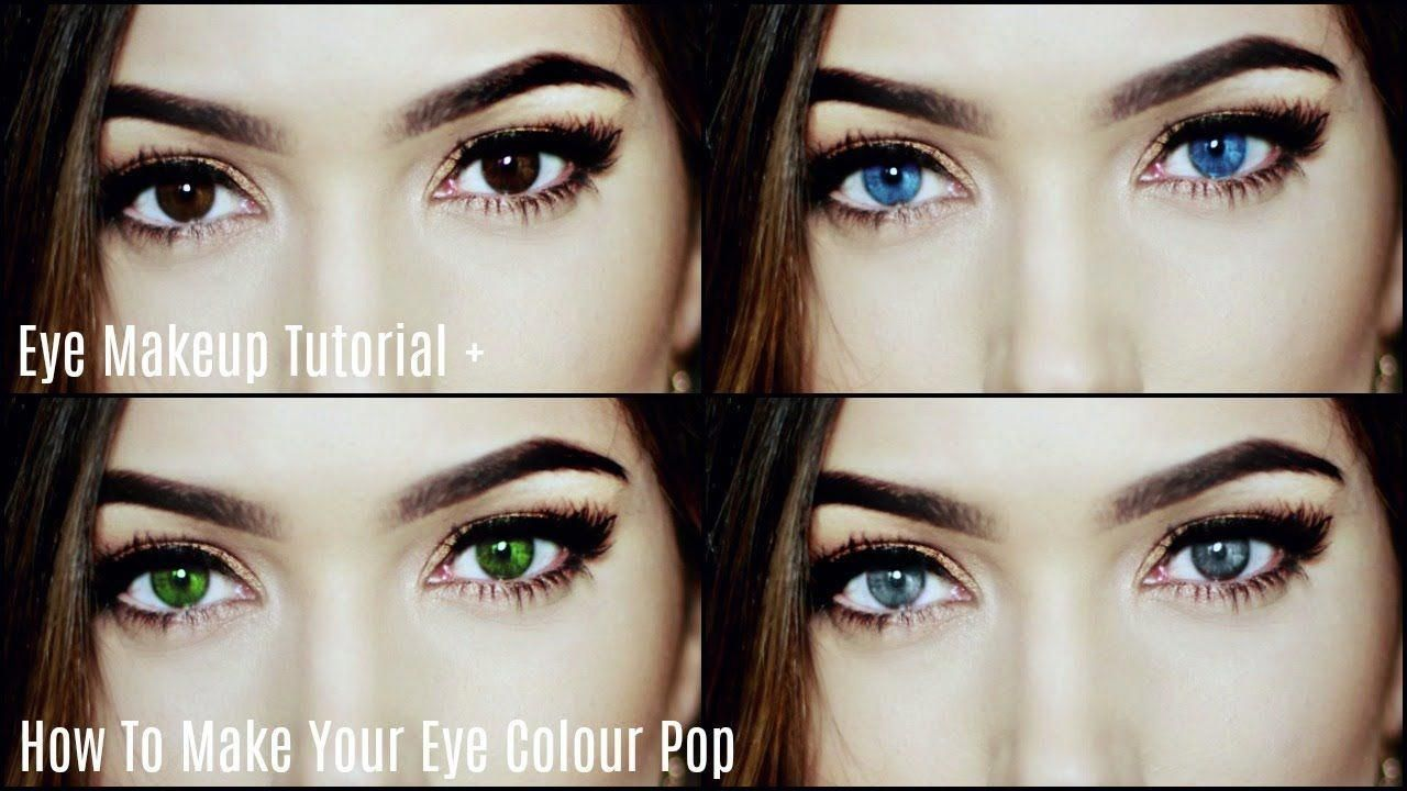 how to make your eye colour pop | makeup for your eyes