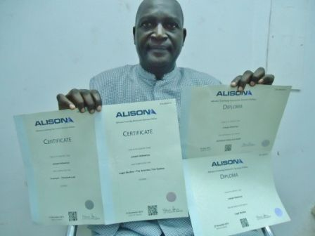 Alison Learner Joseph Adesanya Has Earned Two Certificates