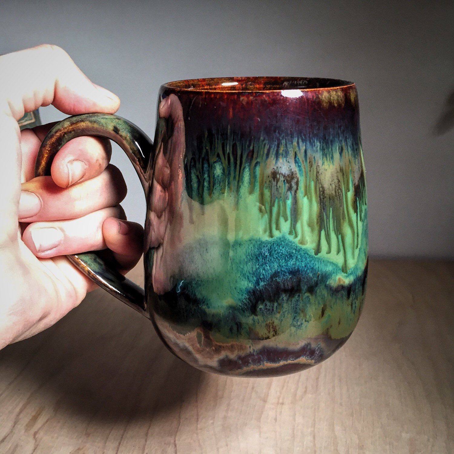 This mug is begging for an earthy brew pottery for Pottery cup ideas