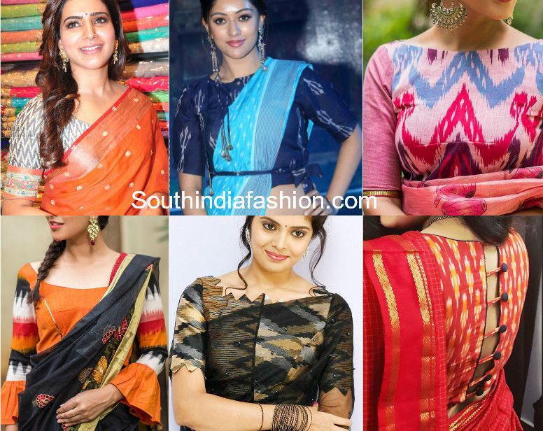 1b516af0fe31eb Rock Your Sarees With Ikat Blouses