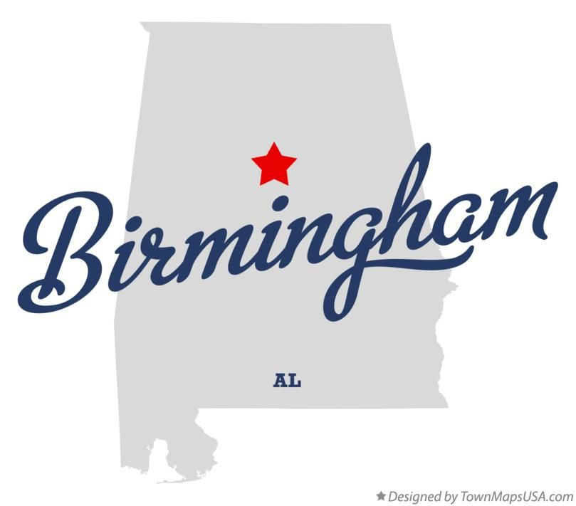 Map of Birmingham Alabama AL  UAB Townhouse Resources List