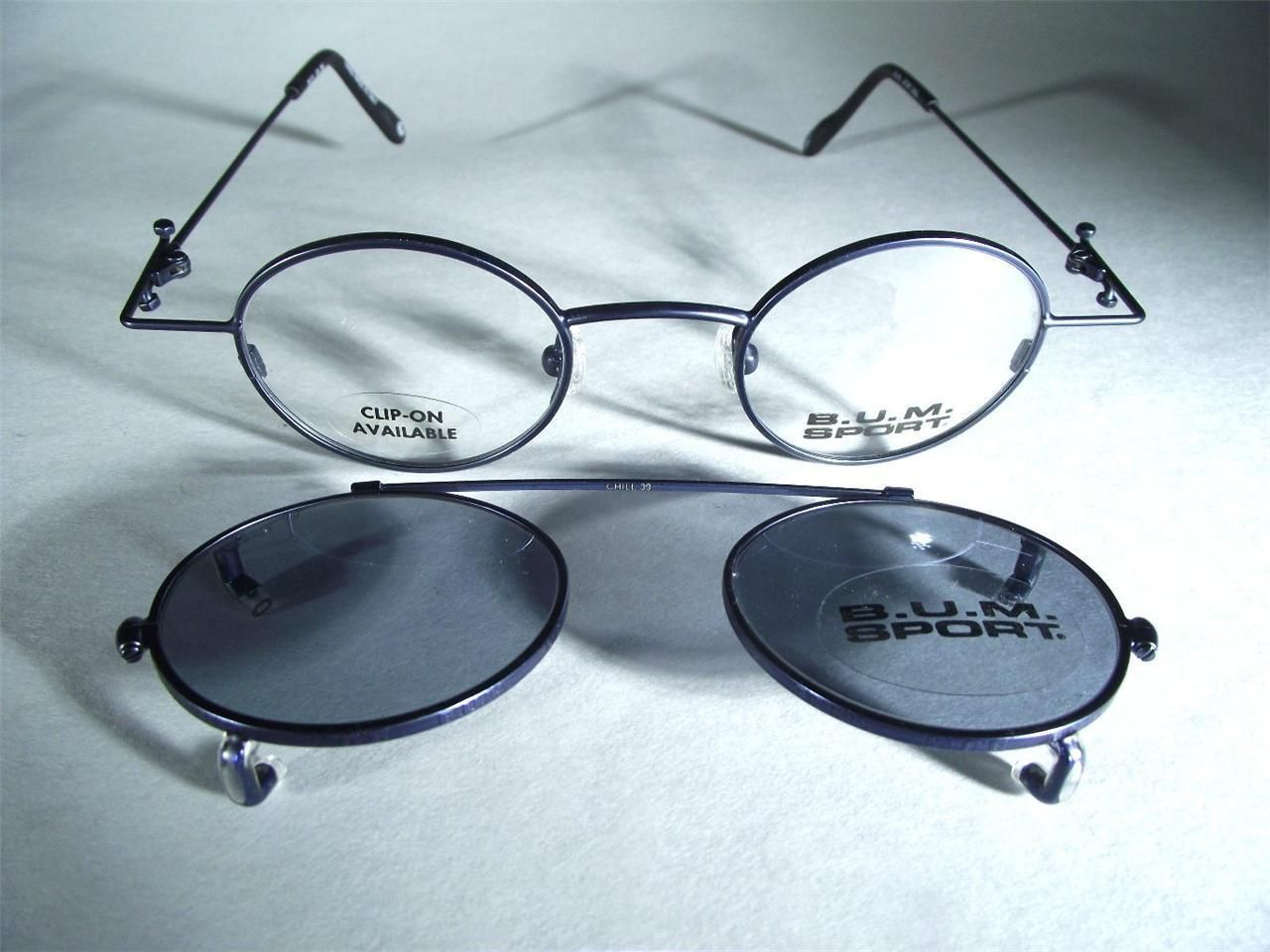 Steampunk Metal BUM Round Industrial Blue VTG Eyeglass Frames ...