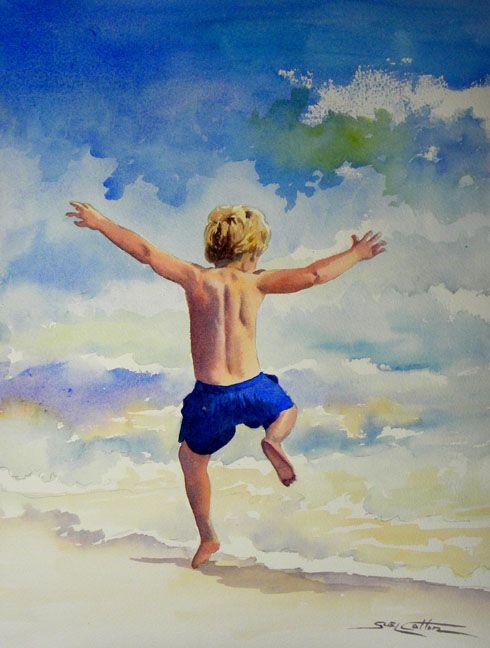 Little Boy Running in Surf web.jpg (490×648)