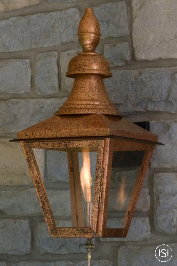 Modern Outdoor Lightning As Illuminating Decoration For Awesome Exterior: Light The Way To Your Gorgeous Front Entry With This Wall-Mount Gas Lantern Sconces From