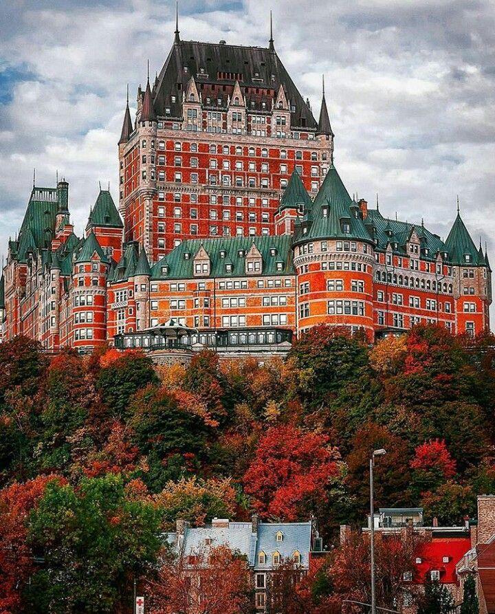 Fairmont Le Chateau Frontenac Castle Quebec City Beautiful Castles
