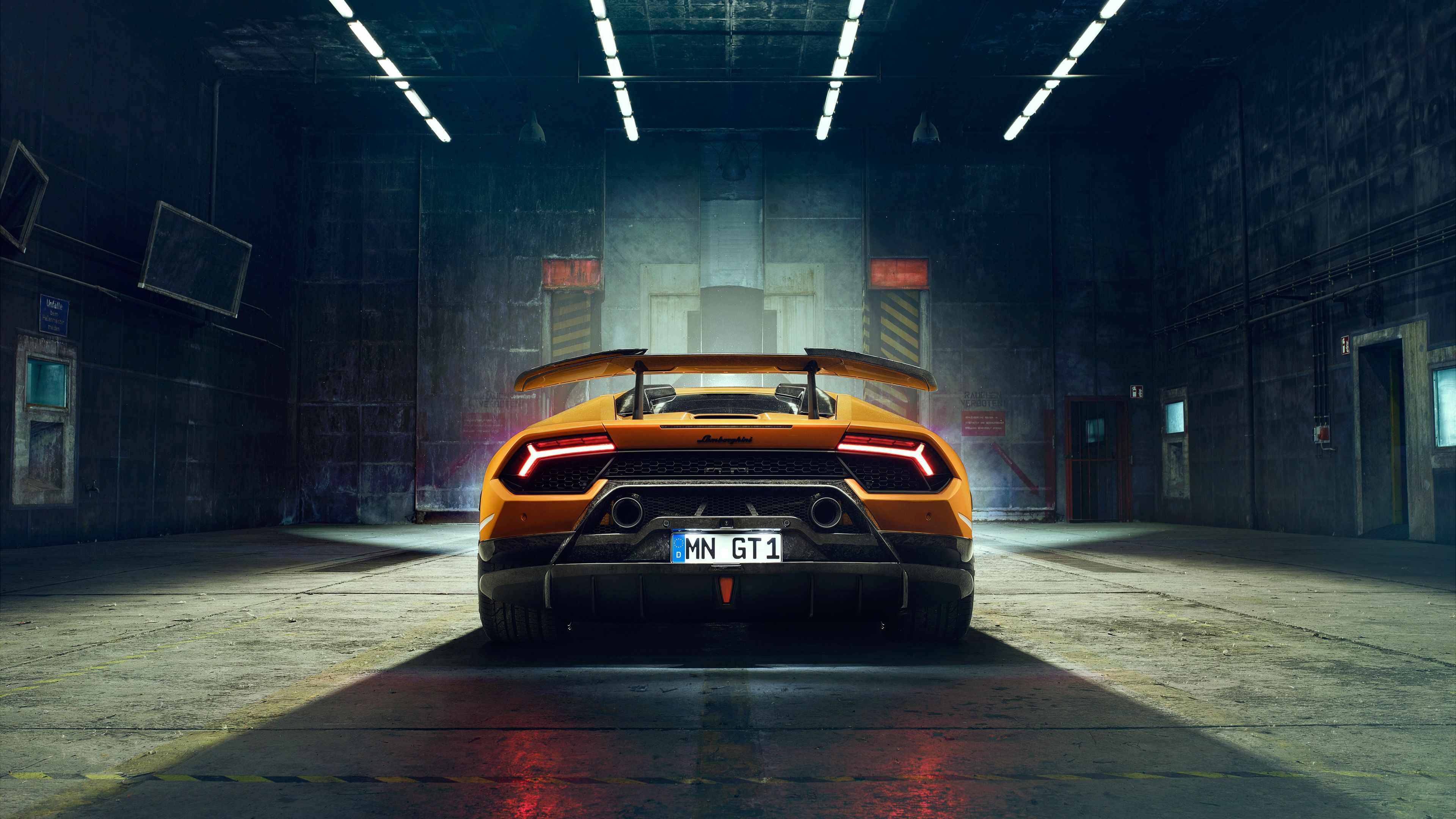 Wallpaper 4k Novitec Lamborghi Huracan Perfomante 2018 Rear Lights