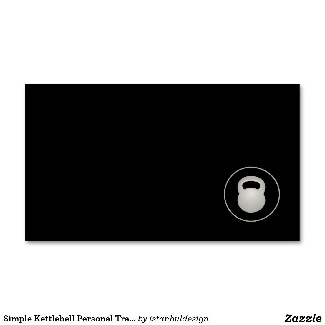 Simple Kettlebell Personal Trainer Business Card | Fitness Business ...