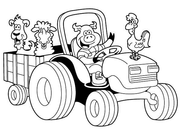 Tractor Carrying Chicken Pig Lamb And Dog Coloring Page Download Print Onli Malvorlagen Tiere Bauernhof Malvorlagen Malvorlagen Fur Kinder Zum Ausdrucken