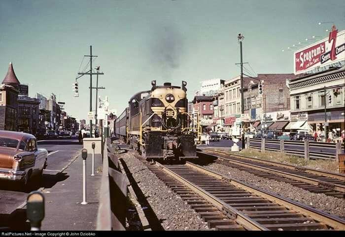 Erie train downtown Passaic my exact train See the smoke